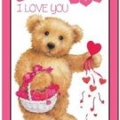Cute Valentine's Day Love Kitchen Refrigerator Magnet - Teddy Bear with Heart