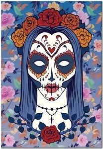 Decor Collectible Kitchen Fridge Magnet - Flower Sugar Skull Girl #2