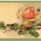 Beautiful Vintage Decor Collectible Kitchen Fridge Magnet - Pink Rose