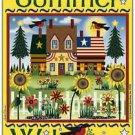 Primitive Country Folk Art Kitchen Refrigerator Magnet - Summer Welcome