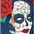 Decor Collectible Kitchen Fridge Magnet - Flower Sugar Skull Girl #3