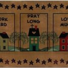 Primitive Country Folk Art Kitchen Refrigerator Magnet - Work Hard, Pray Long...