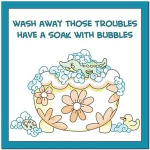 Beautiful Cute Decor Collectible Kitchen Fridge Magnet - Bubblebath Quotes #7