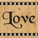 Beautiful Prim Decor Collectible Kitchen Fridge Magnet - Country Sing ~ Love