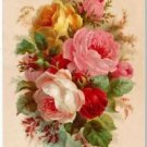 Victorian Collectible Refrigerator Fridge Vintage Magnet -Beautiful Garden Roses