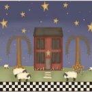 Primitive Country Folk Art Kitchen Refrigerator Magnet - Blessed Prim Night #2
