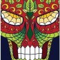 Decor Collectible Kitchen Fridge Magnet - Flower Sugar Skull #11