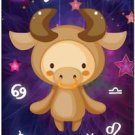 Cute Beautiful Astrology Zodiac Sign Decor Collectible Fridge Magnet - Taurus