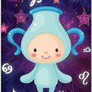 Cute Beautiful Astrology Zodiac Sign Decor Collectible Fridge Magnet - Aquarius