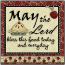 Primitive Country Folk Art Kitchen Refrigerator Magnet - May the Lord Bless this