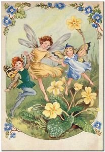 Beautiful Fun Decor Design Collectible Kitchen Fridge Magnet - Dancing Fairies
