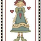 Cute Valentine's Day Love Kitchen Refrigerator Magnet ~ Little Prim Love Angel