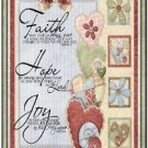 Primitive Country Folk Art Kitchen Refrigerator Magnet - Faith Hope Joy