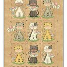 Primitive Country Folk Art Kitchen Refrigerator Magnet - Every Life - Nine Cats