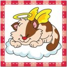 Beautiful Cute Decor Collectible Kitchen Fridge Magnet - Sleeping Angel Cat #5