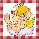 Beautiful Cute Decor Collectible Kitchen Fridge Magnet - Sleeping Angel Cat #3
