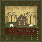Primitive Country Folk Art Kitchen Refrigerator Magnet - Home Sweet Home #4