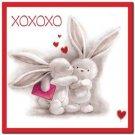 Cute Valentine's Day Love Kitchen Refrigerator Magnet - Xoxoxo Bunny Couple