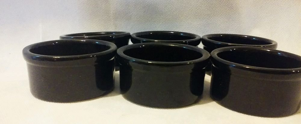 Ramekins Set of 6 Black 3 oz