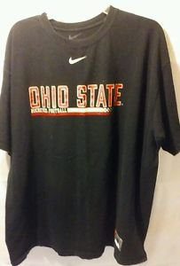 Nike Ohio State Buckeyes Black Football Shirt.Graphics on front and Back