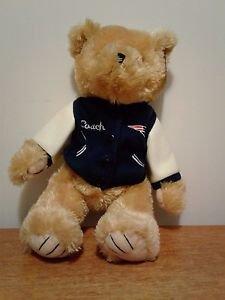 "Good Stuff NFL New England Patriot Teddy Bear Plush Stuffed Animal 14"" Tall NWT"