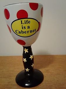 Tumbleweed Pottery-Life is a Cabernet-Ceramic Wine Glass