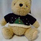 "GUND Disney CLASSIC Winnie the Pooh Bear Stuffed Plush 7""  W/Christmas SWEATER"