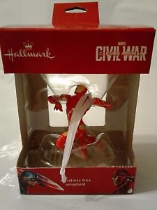2016 HALLMARK CHRISTMAS TREE ORNAMENT MARVEL CIVIL WAR CAPTAIN AMERICA IRONMAN