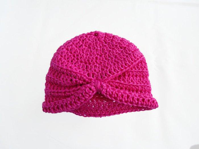 Pink turban baby hat, turban, baby hat crochet, baby gift, baby shower gift