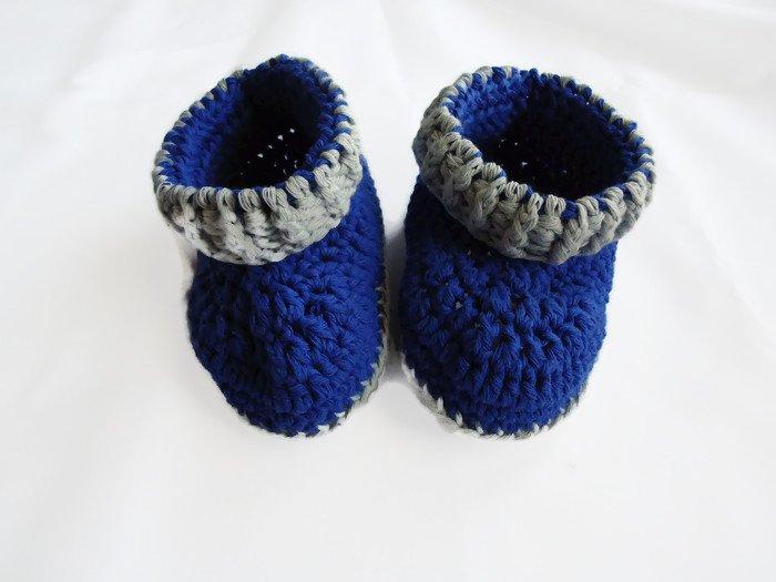 Baby booties by misspiggystore, crochet baby booties