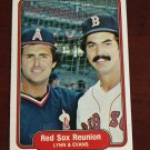 Lynn & Evans Red Sox Reunion 1982 Fleer (C0045)