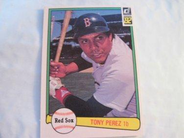 Tony Perez 1982 Donruss (C0089)