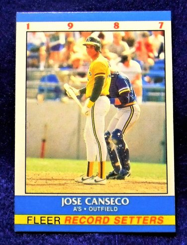 Jose Canseco 1987 Fleer Record Setters (C00169)