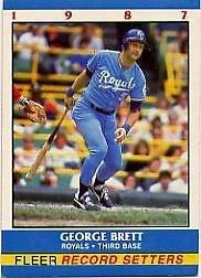 George Brett 1987 Fleer Record Setters (C00177)