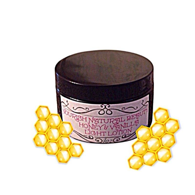 Honey and vanilla light lotion