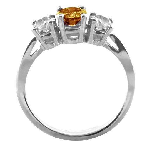 Three Stone Ring- 0.50 Carat Twt. Diamond Ring in 14K Gold