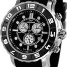 Aquaswiss 96XG002 Mens Watch Rugged Quartz Chronograph Black Dial Bezel Rubber Strap