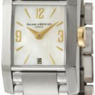 Baume and Mercier MOAO8600 Ladies Watch Two Tone Stainless Steel Diamant Mother Of Pearl Dial