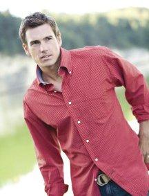 Tommy Hilfiger Shirt, Red, Med