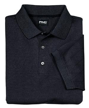 Ping Argyle Golf Shirt, Black, XS