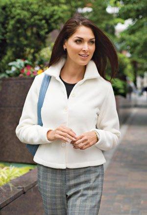 Fleece Jacket, Ivory, 2XL