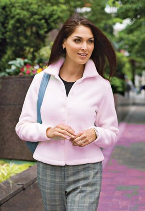 Fleece Jacket, Pink, Medium