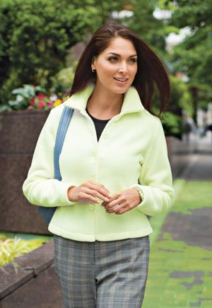 Fleece Jacket, Moss, XS