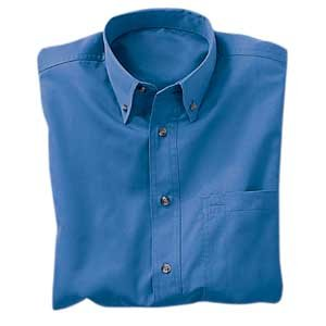 Heavyweight Easy Care Shirt, Blue, Large