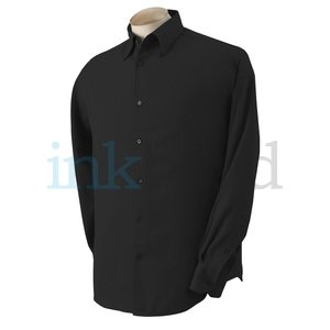 Cubavera Silk Shirt, Black, XL