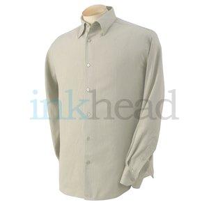 Cubavera Silk Shirt, Sand, Large