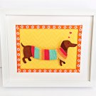 Puppy Nursery Art. Puppy Framed.  Kids Wall Decor
