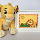 Lion Kids Framed, Art Wall Lion Decor, Lion Nursery Orange Decor
