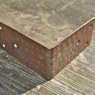 IRON ANTIQUE STYLE BUTCHER BLOCK BOX CHEST CORNER PLATE WH18