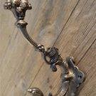 Superb large cast iron serpent coat hook wall hanging hook coathook AL68